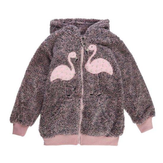 Bruine-rose gemoltoneerde meisjes sweater met deco.