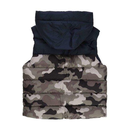 Army navy gewatteerde jongens jas zonder mouwen.
