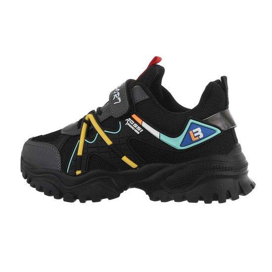 Trendy zwarte mix jongens sneaker Jaco.