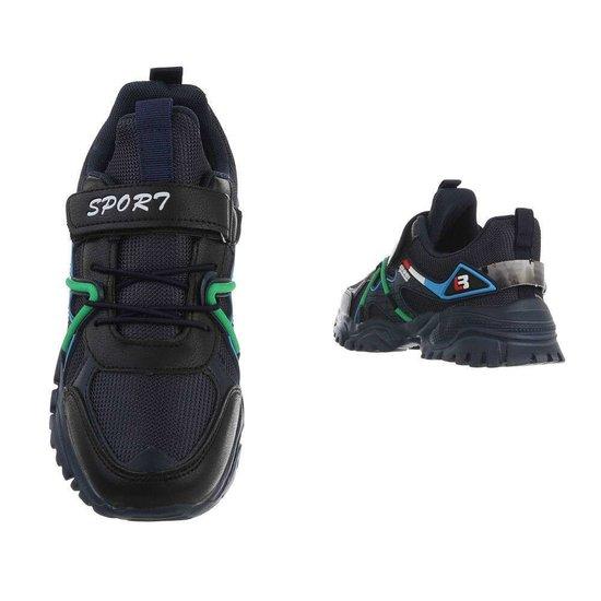 Trendy blauwe mix jongens sneaker Jaco.