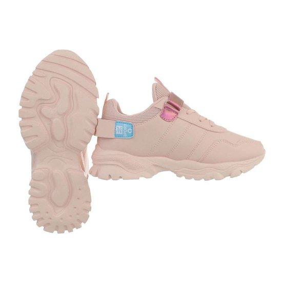Trendy rose mix meisjes sneaker Stansie.