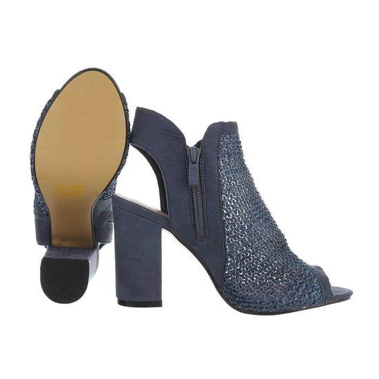 Hoge blauwe sandaal Sheena.