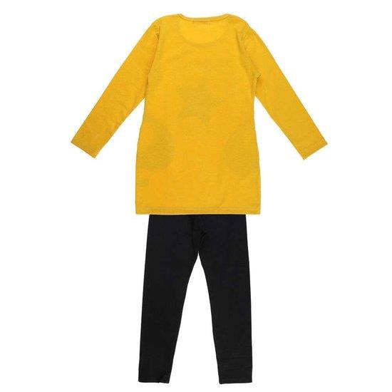 Geel-zwarte meisjes jogging met ster.