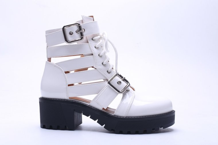 Trendy witte sandaal-boot Runa