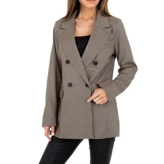 Elegante beige/bruine blazer.