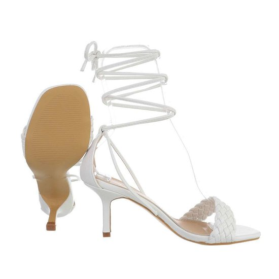 Trendy witte hoge sandaal Lianne.