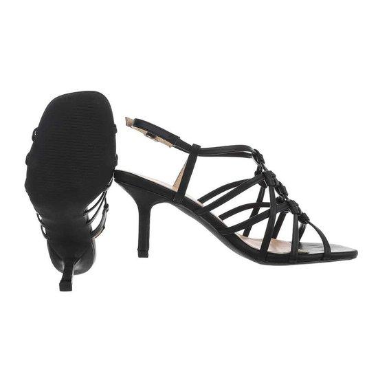 Zwarte hoge sandaal Brina.