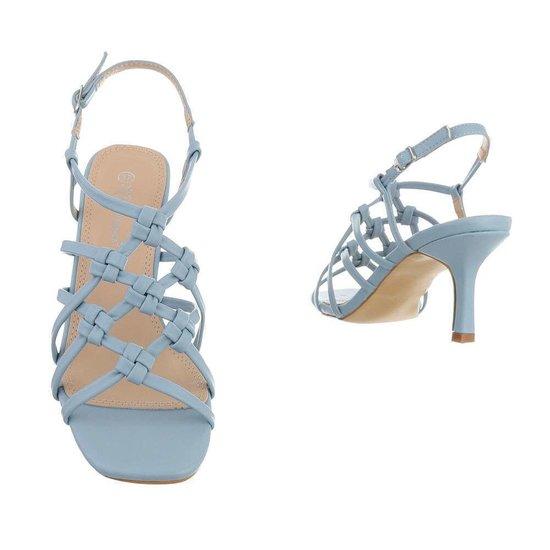 Blauwe hoge sandaal Brina.