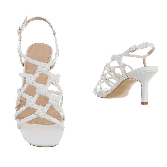 Witte hoge sandaal Brina.