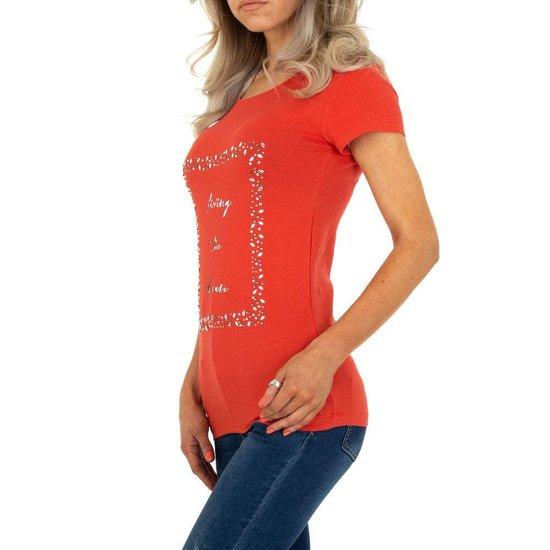 Leuke rode T-shirt met opschrift LIVING THE DREAM.