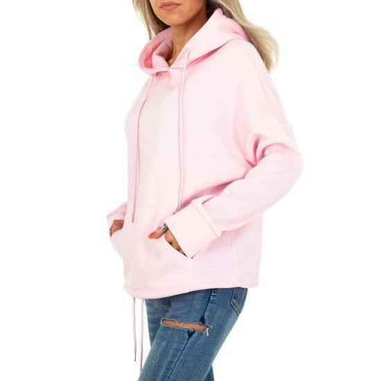 Trendy rose sweater/hoodie in sweatstof.