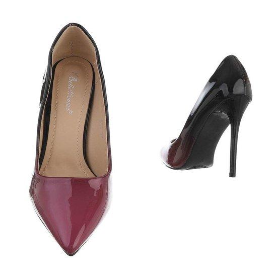 Prachtige zwart/purperen pump Belinda