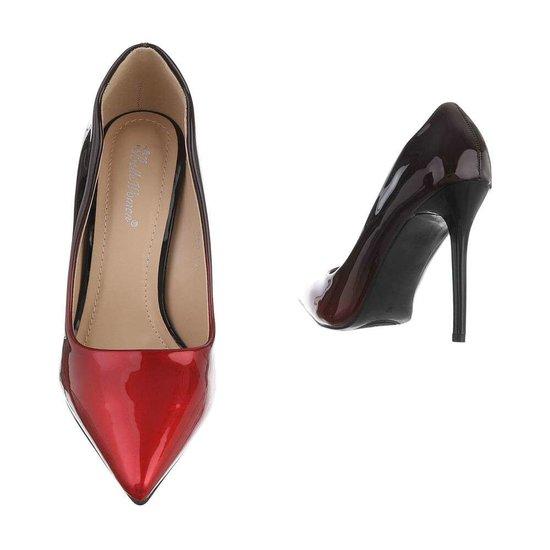 Prachtige bordeaux/rode pump Belinda