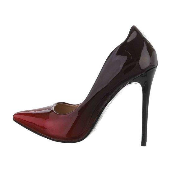 Escarpins noir/rouge Belinda