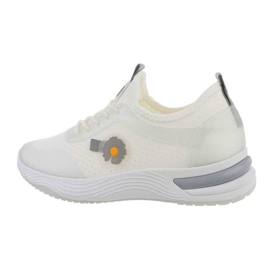 Trendy lage wit/grijze sneaker Stacey.