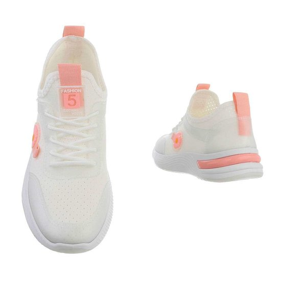 Trendy lage wit/rose sneaker Stacey.
