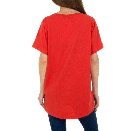Trendy rode T-shirt met opschrift SWEET GIRL.