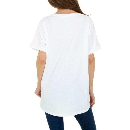 Trendy witte T-shirt met opschrift SWEET GIRL.