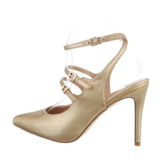 Elegante gouden pump Inis.