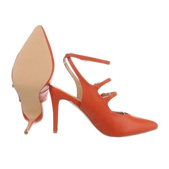 Elegante oranje pump Inis.