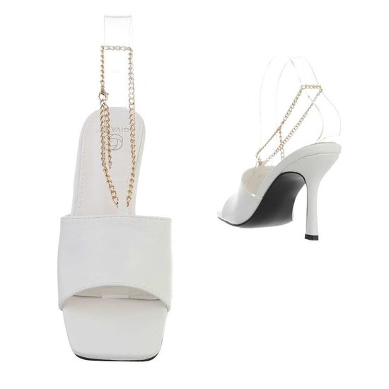 Fashion witte mule Sheena.