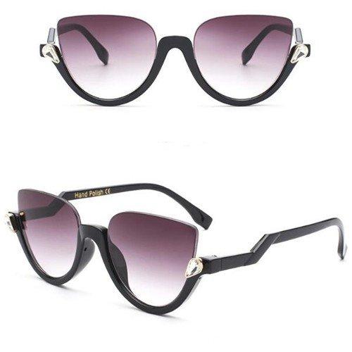 Zwarte design zonnebril.