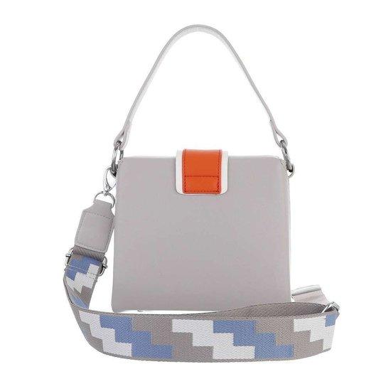 Trendy grijze vierkante schoudertas.