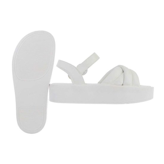 Witte platform sandaal Juliette.