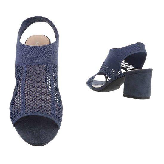 Hoge blauwe sandaal Sifra.
