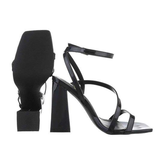 Zwarte hoge sandaal Dali.