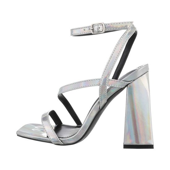 Zilveren hoge sandaal Dali.
