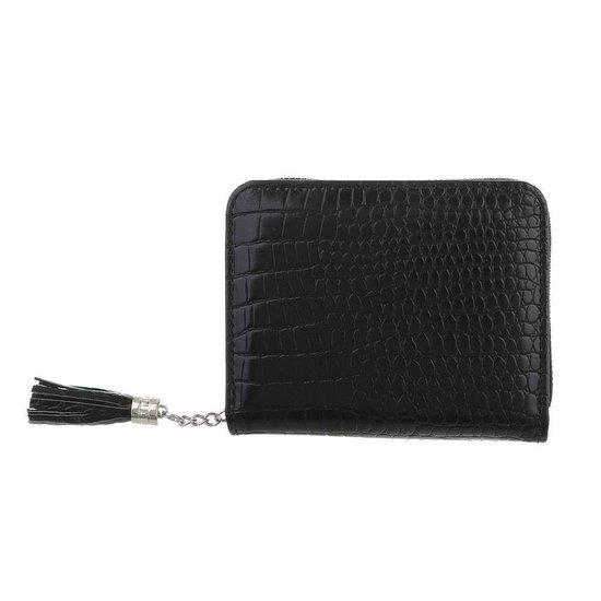Kleine zwarte portemonnee.