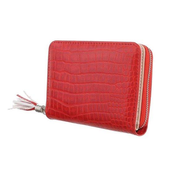 Kleine rode portemonnee.