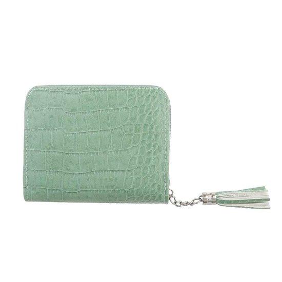 Kleine groene portemonnee.