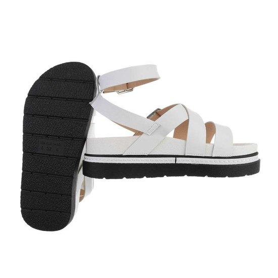 Witte platform sandaal Nisa.
