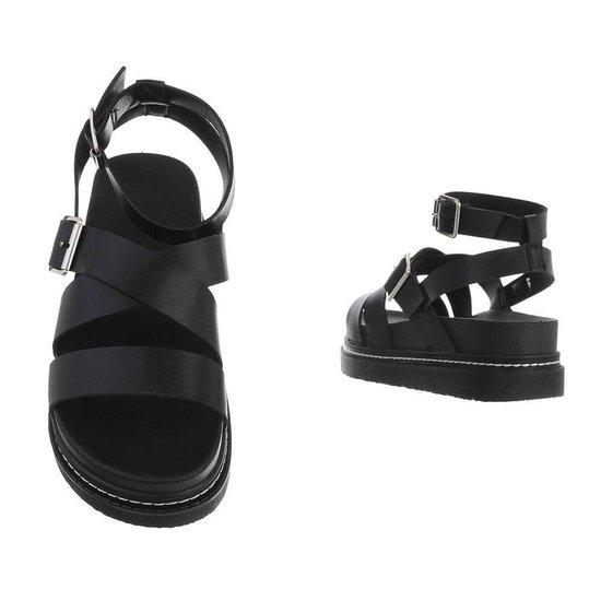 Zwarte platform sandaal Nisa.SOLD OUT