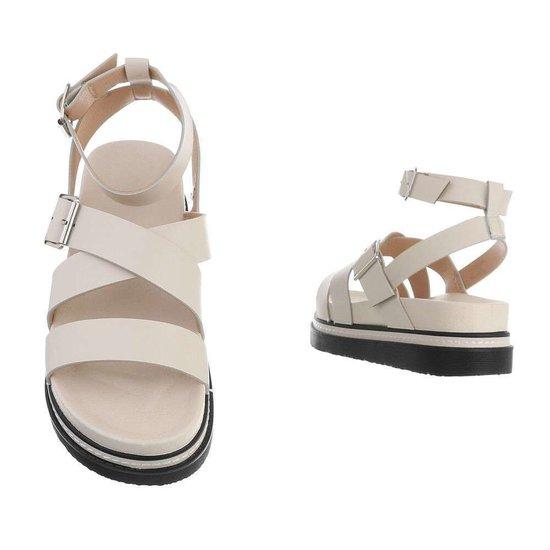 Beige platform sandaal Nisa.
