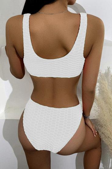 Cream witte bikini met structuur.