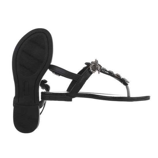 Zwarte lage sandaal Taffy.
