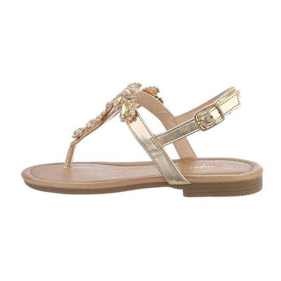 Gouden lage sandaal Taffy.