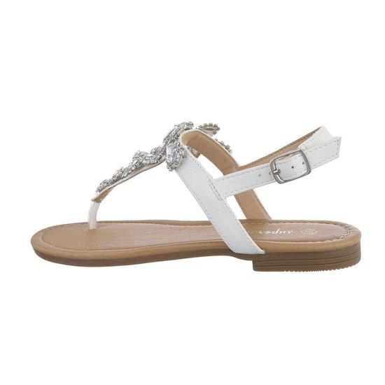 Witte lage sandaal Taffy.