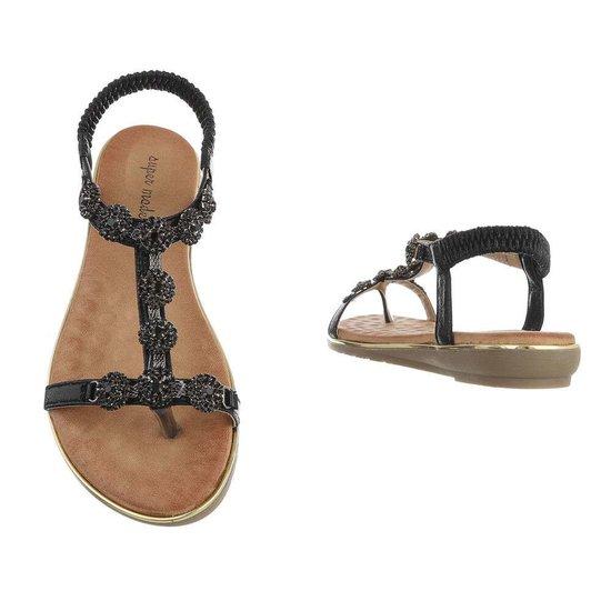 Zwarte lage sandaal Amy.