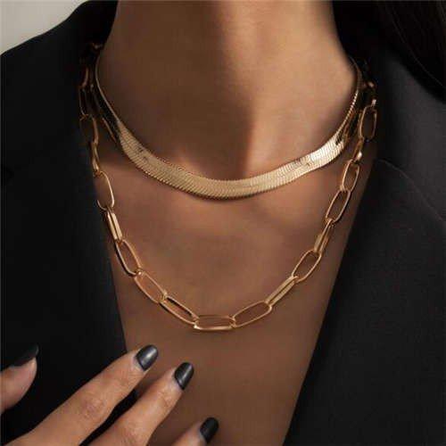Gouden duo halsketting.