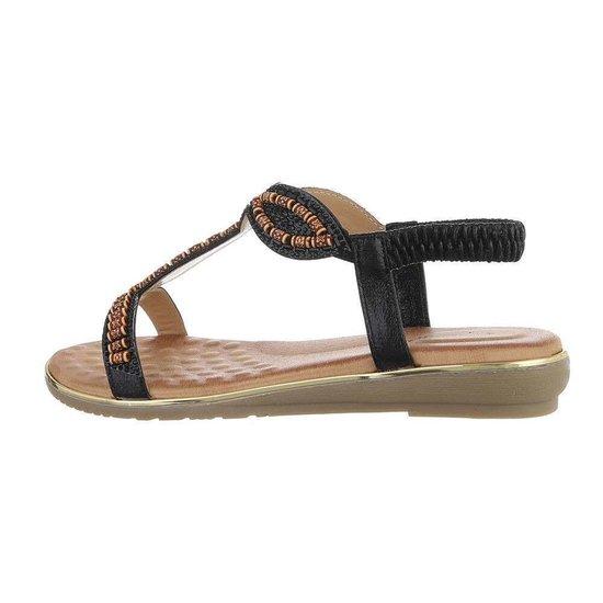 Zwarte lage sandaal Geri.