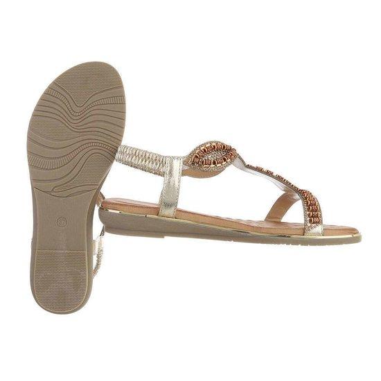 Gouden lage sandaal Geri.