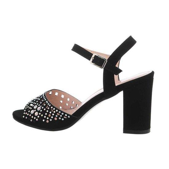 Trendy zwarte hoge sandaal Alani.