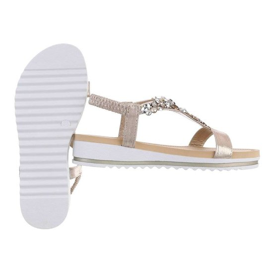 Lage gouden sandaal Jane.
