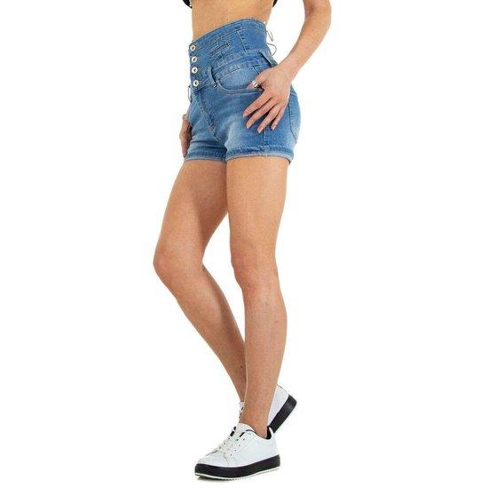Jeans short met hoge taille.