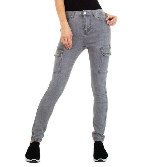 Hippe cargo grijze jeans.