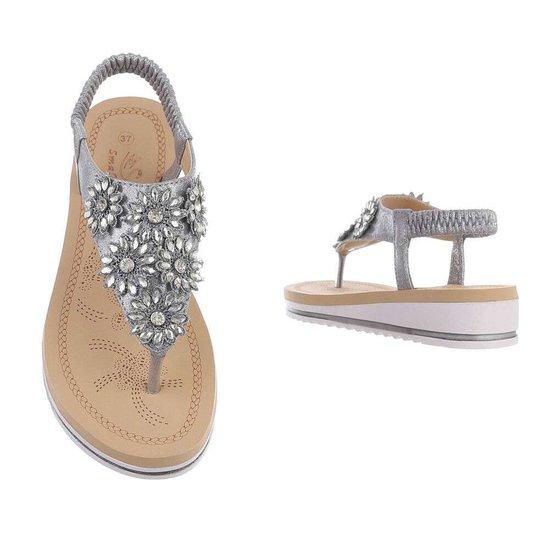 Lage grijze sandaal Emmy.